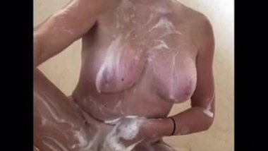Hot Blonde Milf Shower Fun
