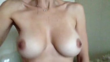 My wife bouncing tits