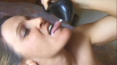 Blonde MILF gets fucked, load of cum in her shoe