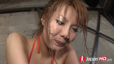 Squirting Japanese Milf Bukkake
