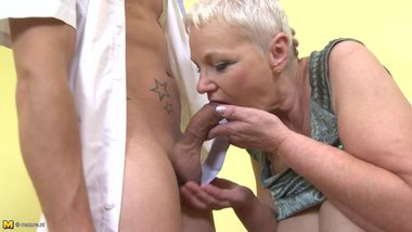 Taboo old grannies fucked by horny boys