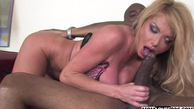 Mom Taylor Wayne takes a BBC in front of her son