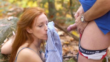 Chloe Morgane - Outdoor Passionate Sex, Amazing Blowjob