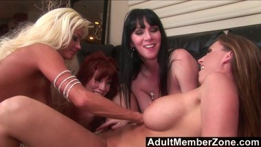 AdultMemberZone - Sex Toy Testing In A Lesbian Orgy