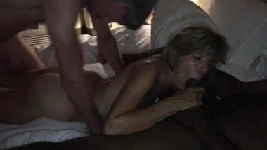 AmateurHorny.Sexy MILF Fucked hard by Two Horny Men