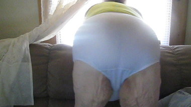 white panties looking out window