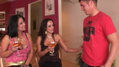Divorced MILFs sharing a shy young guy