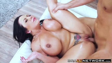 Big boobs Sheridan Love massaged and hammered by Keiran