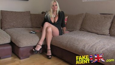 FakeAgentUK Sultry blonde MILF with big tits gets tied up and fucked rotten