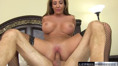 Richelle seduces her trainer and licks his butthole before riding dick
