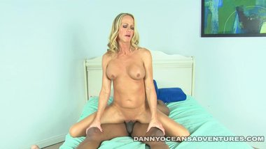 DOCEAN Simone Sonay spreads her MILF Cunt for Black Cock