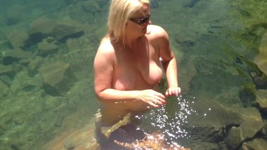 skinny dipping in national forest