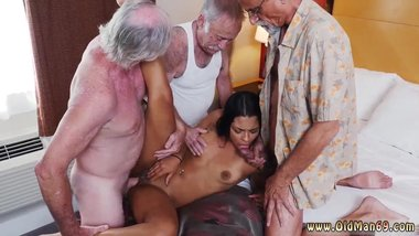 Milf gives friend handjob Staycation with a Latin Hottie