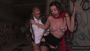 TwistedVisual.com - Busty MILF, Sovereign Syre, Fucked in Public by Stepson