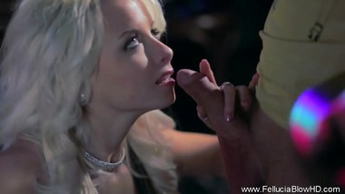 Blonde Girlfriend Blowjob In Public Club