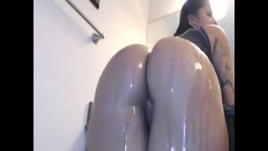 Big ass latina fucks herself with a dildo