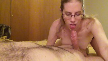 Sensual blowjob and titty fuck