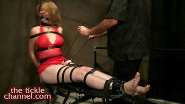Redhead MILF Tied and Tickled