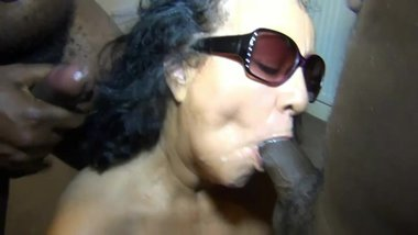 PERFECTMILF.COM - Granny Bubbles Having an Interracial Bukkake