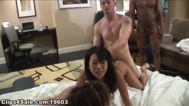 Hotel room orgy Part 1