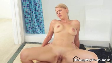 Hot Mom Alice Chambers Sucks & Fucks Her Naughty Step-Son In Shower