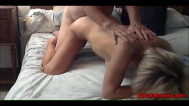 Blonde Milf Fucks Casual Sex Guy & Rewarded With Facial
